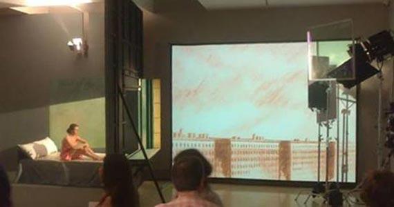 """Performance en el Museo Thyssen Bornemisza sobre el cuadro de Hopper """"Sol de la mañana"""""""