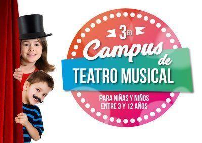 III Campus de Teatro Musical  para niñas y niños entre 3 y 12 años (Julio 2017)