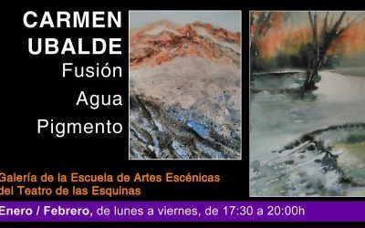 """Exposición de Pintura """"Fusión Agua Pigmento """" de Carmen Ubalde"""