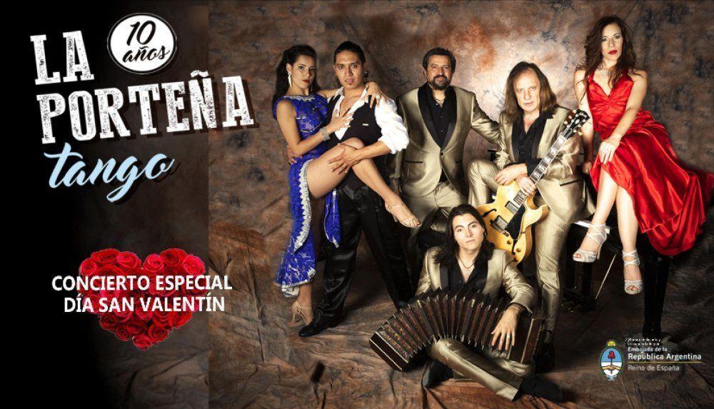"""La Porteña Tango: """"10 años"""". Concierto Especial San Valentín"""
